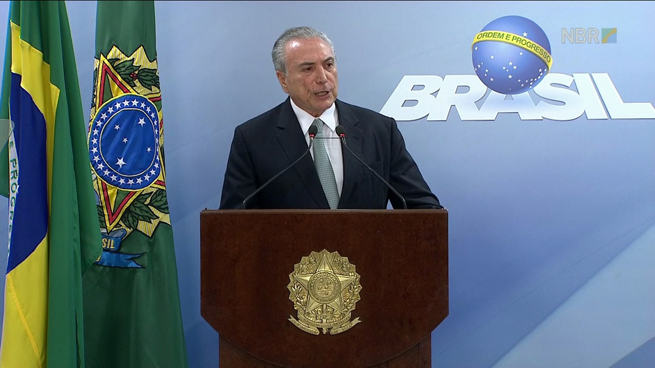 Assista na integra o Pronunciamento do Presidente Michel Temer.